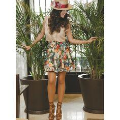 #Estilismo #outfit #canotier de @logamtocados #falda y #top de @barbarellamad #OhMySpringChic