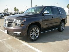 2015 Chevy tahoe LTZ in Sable Metallic color Chevy Tahoe Ltz, 2015 Chevy Tahoe, Chevrolet Tahoe, New Trucks, Chevy Trucks, My Dream Car, Dream Cars, Chevy Models, New Chevy