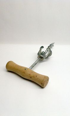 Vintage Wooden Corkscrew  on Etsy, $14.00