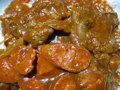 Beef Sarsiado with Chorizo de Bilbao