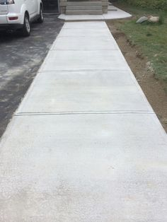 Driveway Extension Photos - Concrete and Interlock Driveway Concrete Driveways, Walkways, Lanai Porch, Area Of Expertise, Concrete Contractor, Landscape Services, Concrete Projects, Front Entrances, Pool Decks