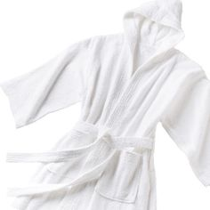 CHILDREN TERRY HOODED BATHROBE - WHITE Kids Robes 210df1135
