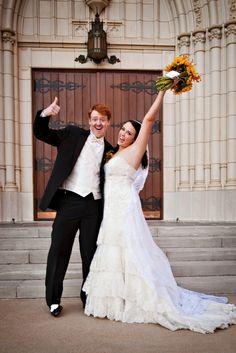 Creative wedding pose by Bella Bee Photography