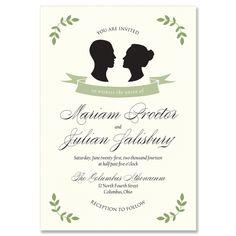 Silhouette Invitation - Unique Wedding Invitation by The Green Kangaroo