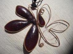 Collana con pendente realizzata in fimo.  Handmade Jewelry - DIY  Paste / argille polimeriche / sintetiche  Polymer clay & wire