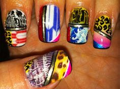 Basso & Brooke inspired nails by Scratch Dollface-- WOW so sick!!