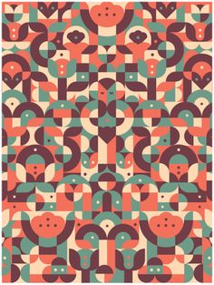 Intertwining Shapes & Colors by South African Studio MUTI | Minimo Graph