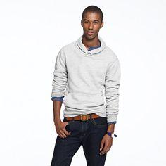 Shawl-collar sweatshirt....oh..i wasn't even lookin at the sweater. I was lookin at the model!! Cuuuuttttiieee;)