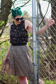 Just check out this leopard print + floral combo I wore. Rebelling against fashion is what I do best!