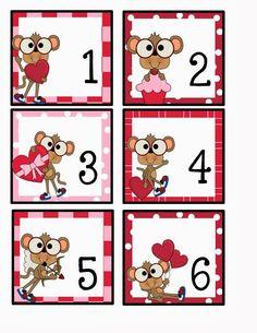 February calendar card freebie