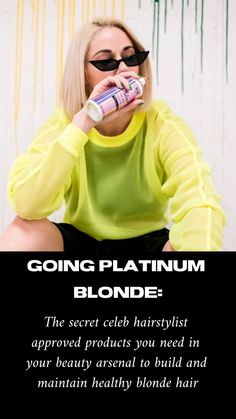 The best kept product secrets of celebrity hairstylists, and a step by step guide to keeping your hair healthy post bleach. Healthy Blonde Hair, Ice Blonde Hair, Sleep Hairstyles, Easy Hairstyles, Going Platinum Blonde, Blonde With Freckles, Vibrant Hair Colors, Colored Hair Tips, Natural Blondes
