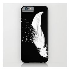 Birds Of A Feather (black) iPhone & iPod Case ($35) ❤ liked on Polyvore featuring accessories, tech accessories, phone, phone cases, cases and iphone & ipod cases