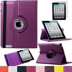 Pandamimi ULAK(TM) 360 Rotating Magnetic PU Leather Case Smart Cover For The New iPad 4 3 2 Generation Tablet with Screen Protector (Purple) by ULAK, http://www.amazon.com/dp/B00DOQOC10/ref=cm_sw_r_pi_dp_Kon7rb12ZE8AD