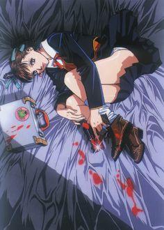 Artwork from Yasuomi Umetsu's Kite Manga Art, Manga Anime, Anime Art, Old Anime, Dark Anime, Kite Anime, Aesthetic Art, Aesthetic Anime, Arte Pulp Fiction