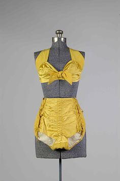 Bathing suit, cotton, synthetic, Cole of California, 1943