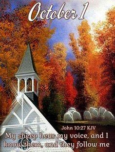 John 10 27, 1 John, King James Bible Verses, Bible Verses Quotes, Scriptures, October Calender, Calendar, Birth Month Meanings, Weekday Quotes