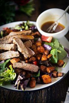 Bacon Potato Salad with Sweet Mustard Dressing - (Free Recipe below) Grilling Recipes, Paleo Recipes, Cooking Recipes, Cooking Games, Steak Recipes, Dip Recipes, Clean Eating, Healthy Eating, Healthy Foods