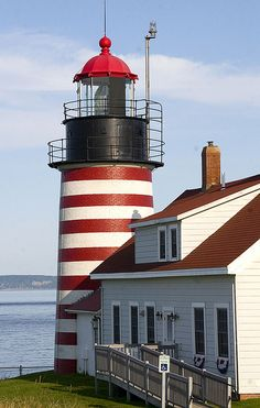 West Quoddy Head Light (Maine) is the easternmost lighthouse in the United States.