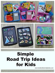Simple road trip ideas for kids kids travel activities, airplane activities, car activities for Kids Travel Activities, Airplane Activities, Road Trip Activities, Road Trip Games, Toddler Activities, Road Trip With Kids, Family Road Trips, Travel With Kids, Family Vacations