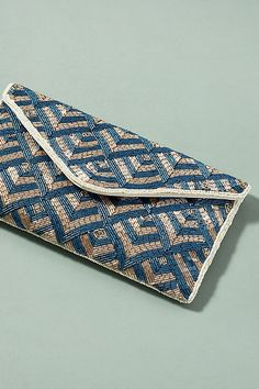 Slide View: 1: Thora Bead Embellished Clutch