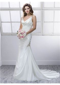 Luxurious Trumpet / Mermaid Floor-length Lace-up Wedding Dress 2014