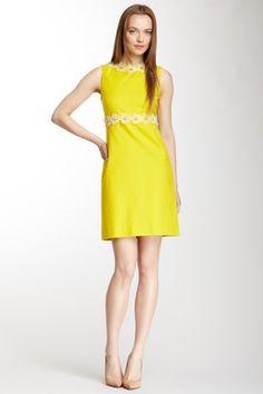 Sleeveless Flower Applique Dress