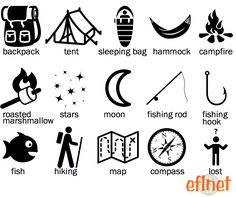 Camping - Picture Vocabulary Worksheet 1 | EFLnet