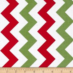 Riley Blake Medium Chevron Christmas from @fabricdotcom  From the RBD Designers for Riley Blake Designs, this cotton print fabric is perfect for quilting, apparel and home décor accents. The chevron stripe is vertical to the selvedge. Colors include white, red and green.