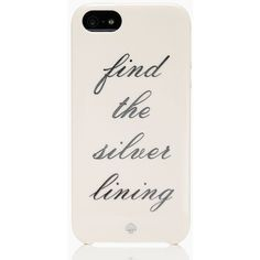 Kate Spade Find The Silver Lining Iphone 5 Case (£22) ❤ liked on Polyvore featuring accessories, tech accessories, phone cases, phones, cases, iphone cases, ballet pink, pattern iphone case, iphone case and iphone cell phone cases