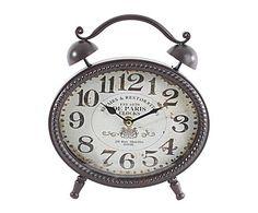 Loft londonien : Horloge Métal, Marron et blanc - L21