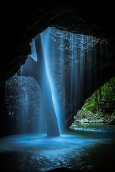 AUSTRALIA: Natural Arch Waterfall from beneath, Numinbah Valley QLD. by Alex May on Natural Arch Waterfall from beneath, Numinbah Valley QLD. by Alex May on All Nature, Amazing Nature, Beautiful Waterfalls, Beautiful Landscapes, Places To Travel, Places To See, Travel Destinations, Beautiful World, Beautiful Places