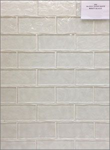 Glossy Super White Wavy Glass Mosaic Backsplash Tiles