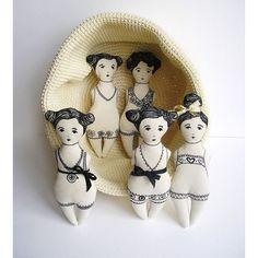 … #Tecido #Bonecas #Bordado
