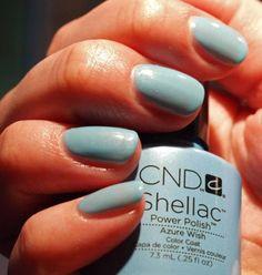 Super Shiny Shellac Baby Blue