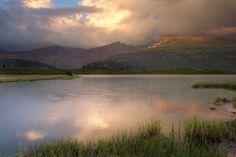 A Drink at Dusk, Deadmans Lake, Guanella Pass, Colorado by Wayne Boland