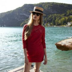 ROSEANNA -RED LACE HARLEM DRESS -THE SHAPE OF THE SEASON