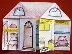 Kids Love English: Parts of the House Great idea for kids to study the parts of a house. Kids Love English: Parts of the House Great idea for kids to study the parts of a house. Elementary Spanish, Spanish Classroom, Teaching Spanish, Teaching English, Teaching Kids, Elementary Teaching, English Activities, Art Activities, Classroom Activities