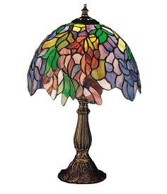 "Meyda 15.5""H Tiffany Laburnum Accent Lamp"