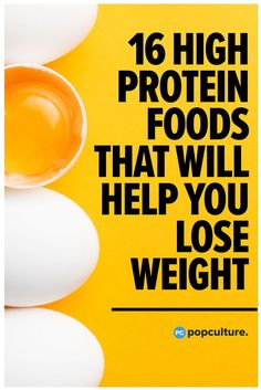 16 High-Protein Foods That Will Actually Help You Lose Weight! Start incorporating these fat-burners into your diet! High Protein Recipes, Protein Foods, Low Calorie Recipes, Lean Protein, Protein Cake, Protein Muffins, Protein Cookies, Diet Recipes, Diet Lunch Ideas