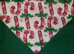 Christmas Candy Cane Dog Badnanas!! by DogGoneGoodBandanas on Etsy