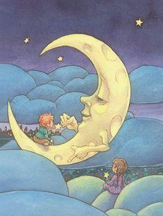 Habitaciones Infantiles: Cuadros Infantiles con Cielos Estrellados.