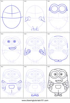 How-to-Draw-Bob-from-Minions-step-by-step.png 751×1,107 pixels