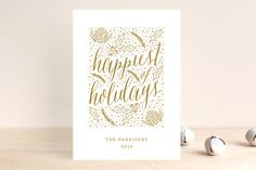 Speckled Foliage Holiday Non-Photo Cards by Lehan Veenker at minted.com