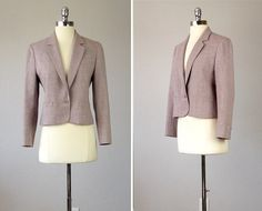 Vintage Wool Blazer,  Pink Blazer, Pendleton Wool, Wool Jacket, Fitted Jacket, 1970s Fitted Wool Blazer,  Pink Jacket, Small