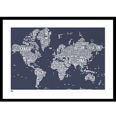 Wall hangings ebay home garden buy bold noble world map framed print 84 x 115cm online at johnlewis gumiabroncs Image collections