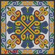 X-stitch square pattern Cross Stitch Cushion, Cross Stitch Art, Cross Stitch Designs, Cross Stitch Embroidery, Cross Stitch Patterns, Bargello Patterns, Crochet Square Patterns, Mandala, Needlepoint Stitches