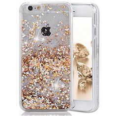 iPhone iPhone 8 Case, Asstar Fashion Creative Design Flowing Liquid Floating Luxury Bling Glitter Sparkle Diamond Soft TPU Case for Apple iPhone 7 iPhone 8 (Gold), Iphone 5c, Apple Iphone 6, Iphone 8 Plus, Liquid Iphone 6 Cases, Iphone 7 Gold, Glitter Iphone 6 Case, Phone Cases Iphone6, Coque Iphone, Iphone 8 Cases