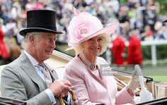 Camilla, Duchess of Cornwall and Prince Charles, Prince of Wales arrive in the parade ring at Royal Ascot 2016 at Ascot Racecourse on June 14, 2016 in Ascot, England.  (Photo by Chris Jackson/Getty Images)