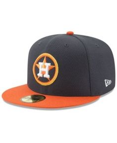 New Era Houston Astros Batting Practice Diamond Era 59FIFTY Cap - Navy/Orange 7 1/8