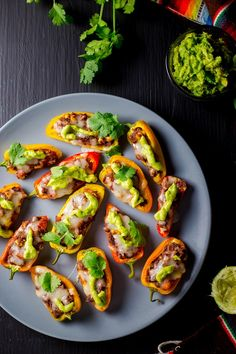 Tex Mex Sweet Pepper Poppers. A Tex Mex spin on jalapeno poppers with lots of flavor! {gluten free}